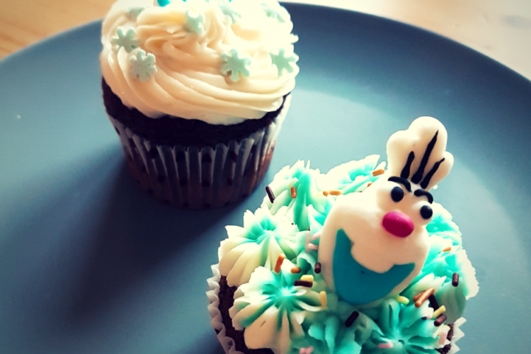 Cours patisserie enfants cupcakes olaf
