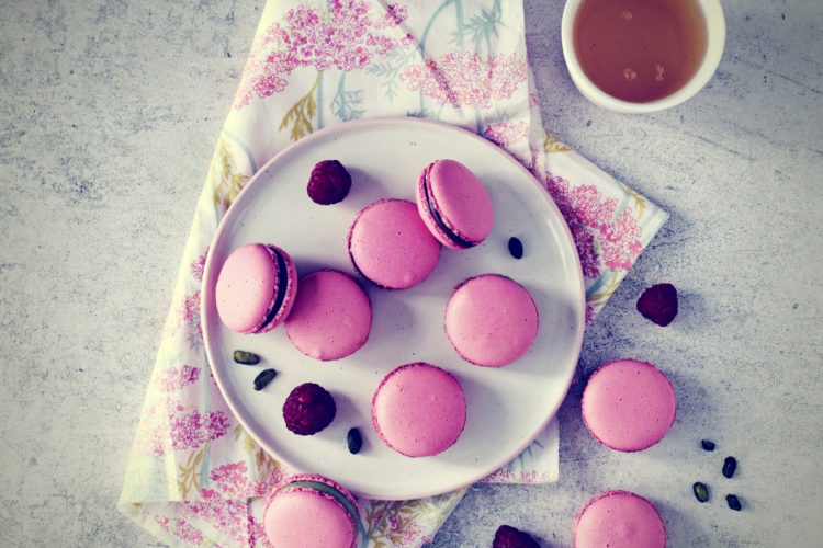 Cours patisserie macarons roses