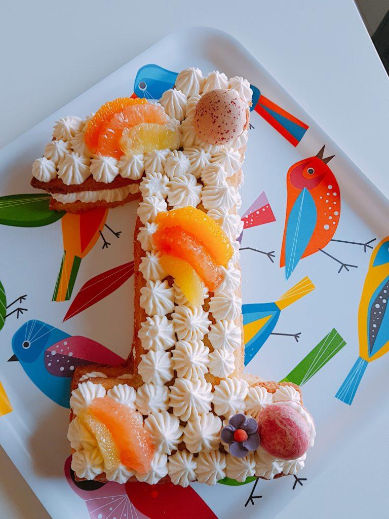 Patisserie traiteur gateau anniversaire number cake