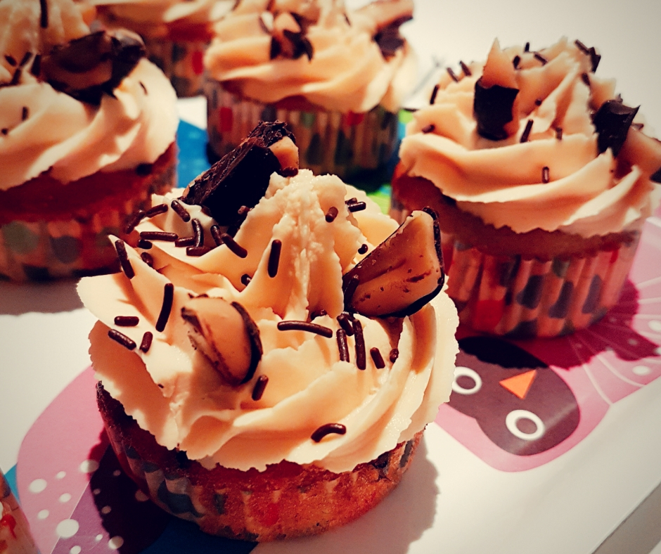 Cours patisserie cupcakes poires chocolat caramel