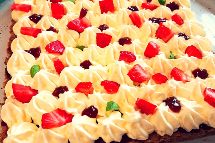 Cours patisserie feuillantine fraises basilic
