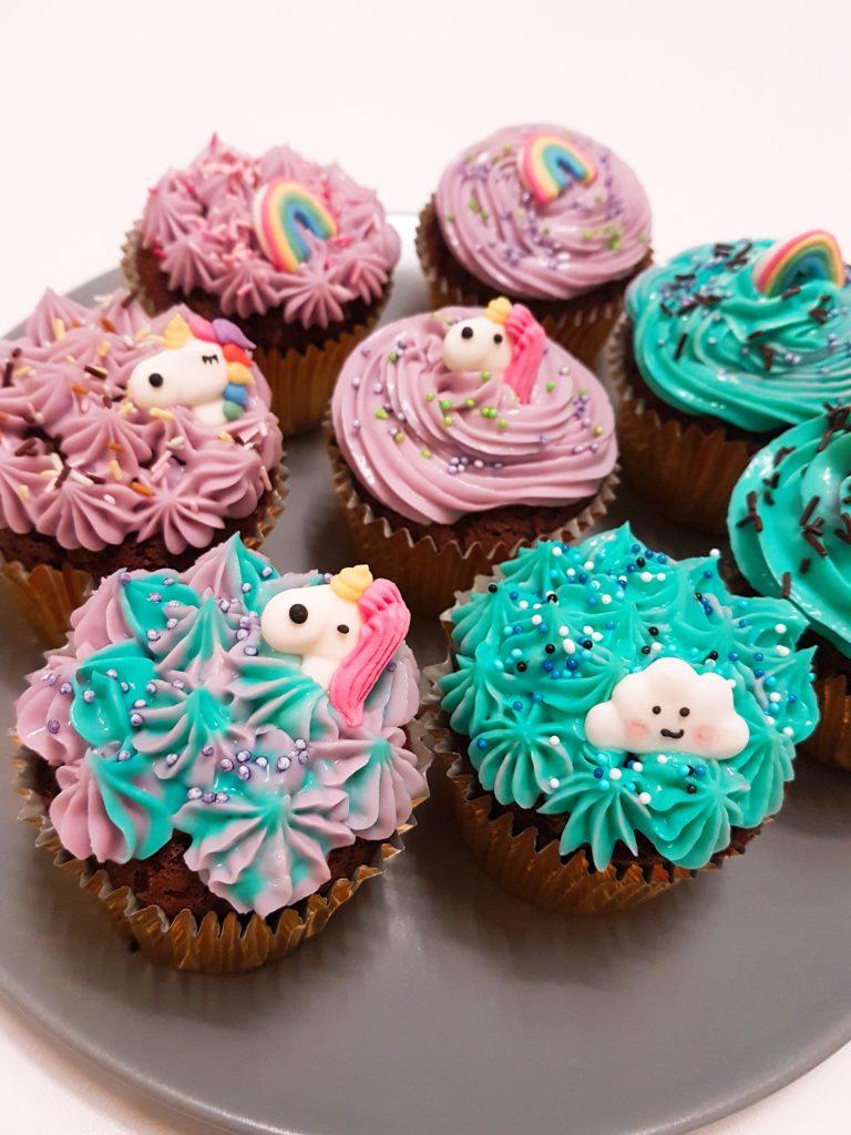 Cupcakes licornes